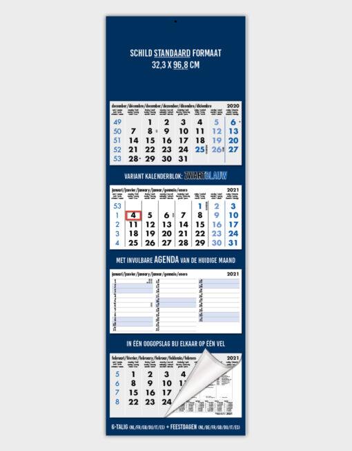 3-Maandskalender KAL135 / Maxi 3 Agenda